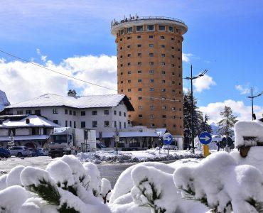 Prima nevicata al Colle del Sestriere e sulle montagne olimpiche della Vialattea